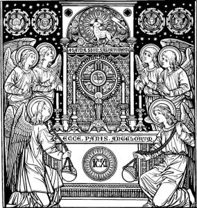 adoration of the Blessed Sacrament exposed